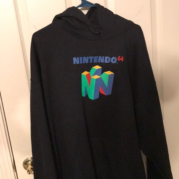 Nintendo Other - Official Nintendo 64 Big Logo Hoodie Size XL